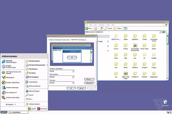 Microsoft đã tạo ra một giao diện bí mật cho Windows XP được lấy cảm hứng từ MacOS
