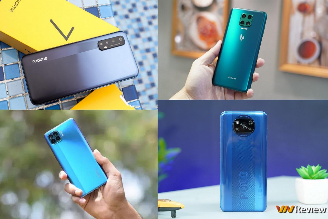 3 smartphone 7 triệu đồng vừa lên kệ gây khó cho người dùng: đều pin lớn, sạc nhanh và camera 64MP