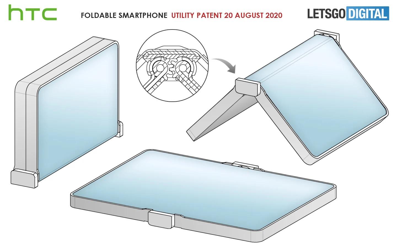 Lộ diện chiếc smartphone gập của HTC với thiết kế khá kỳ cục