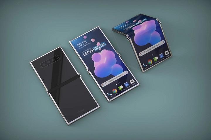 Lộ diện smartphone HTC gập với thiết kế khá kỳ cục