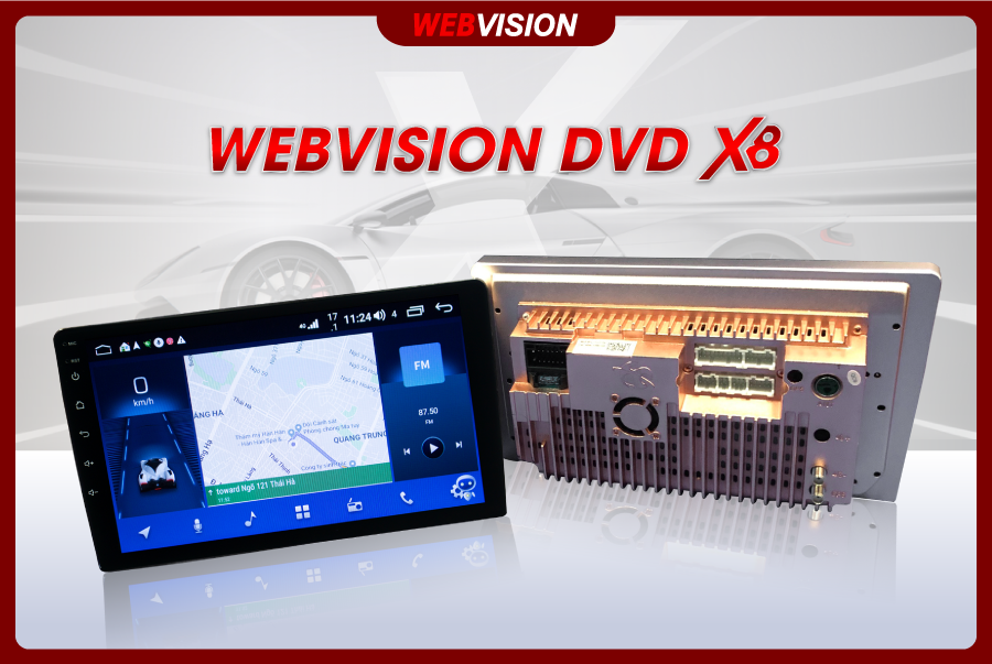 """""""Hé lộ"""" siêu phẩm Webvision DVD X8: Chiếm lĩnh thị trường màn hình DVD xe hơi"""