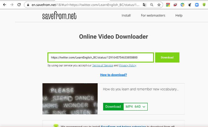 """Bỏ túi """"bí kíp"""" tải video ngay trong trình duyệt cực dễ chỉ bằng một cú click chuột với SaveFrom"""