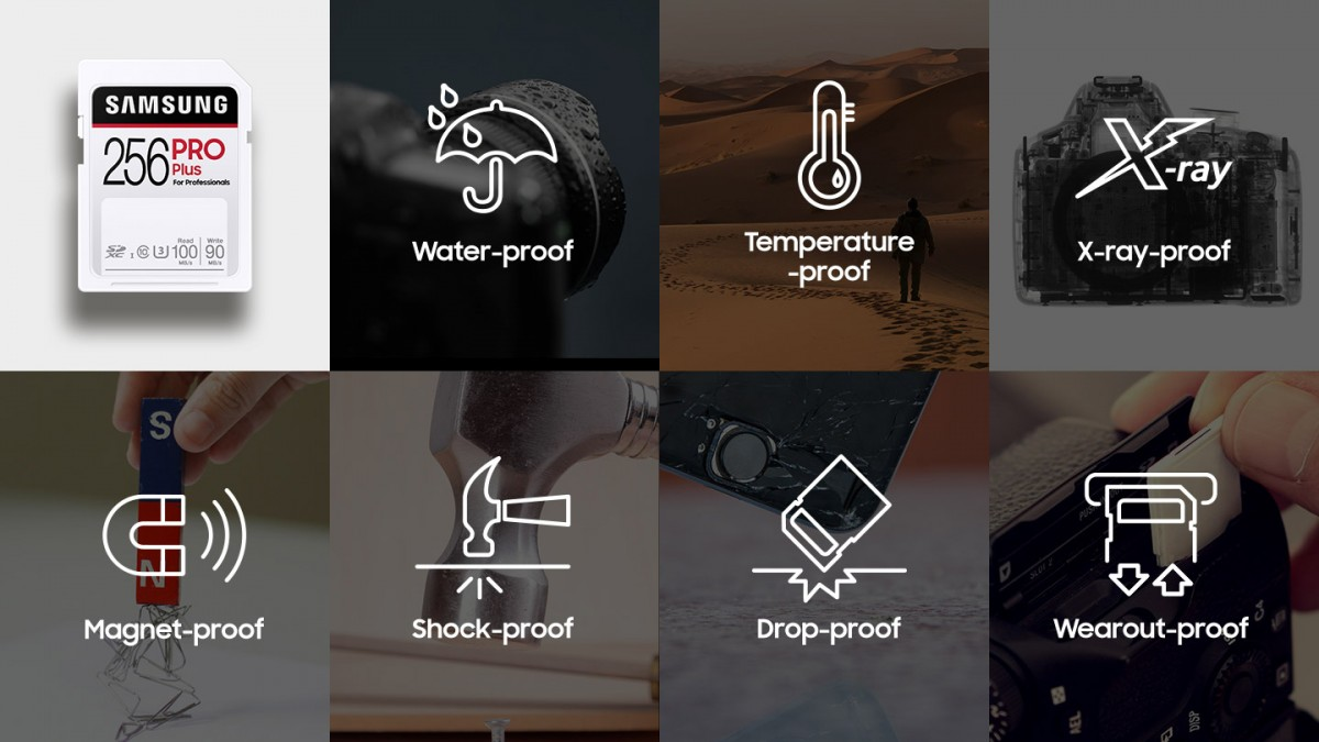 Samsung ra mắt dòng thẻ nhớ SD PRO Plus & EVO Plus siêu bền, có thể sống sót sau khi ngâm nước muối