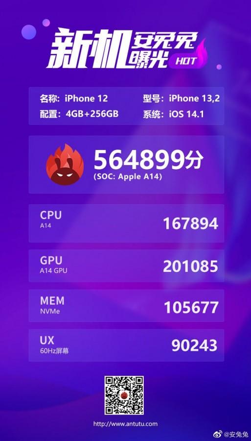 Rò rỉ điểm benchmark của dòng iPhone 12 trên Geekbench và AnTuTu, hiệu năng cải thiện không nhiều