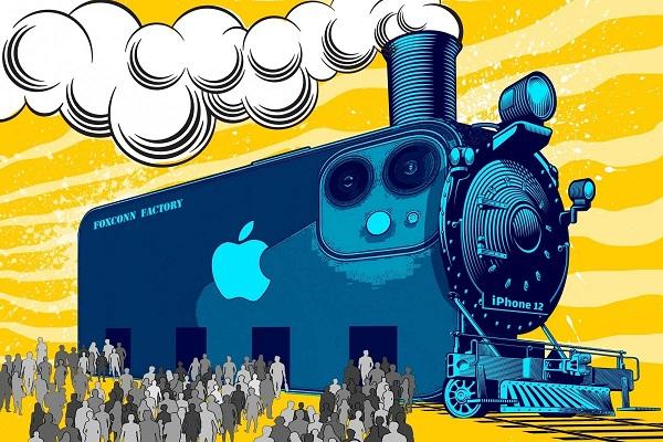 """""""Thành phố iPhone"""" tấp nập chưa từng có, công nhân lắp ráp ngay sau vài giờ tuyển"""