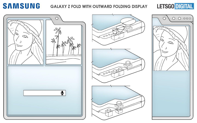 Samsung đăng ký bằng sáng chế cho 3 thiết kế smartphone gập có phần cắt riêng cho camera