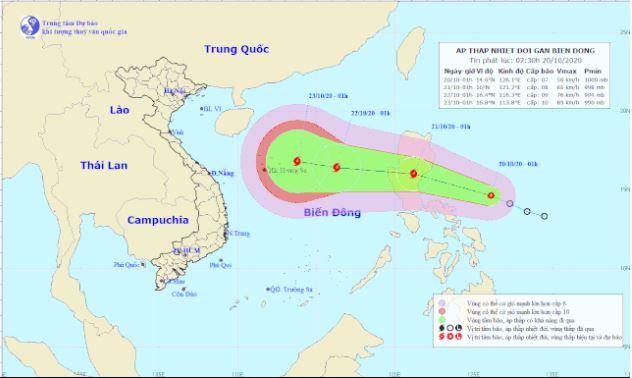 Tin bão mới nhất: Áp thấp nhiệt đới mạnh lên thành bão giật cấp 14
