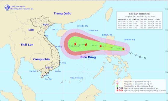 Tin bão số 8: Đang tiến vào biển Đông, gió giật cấp 11