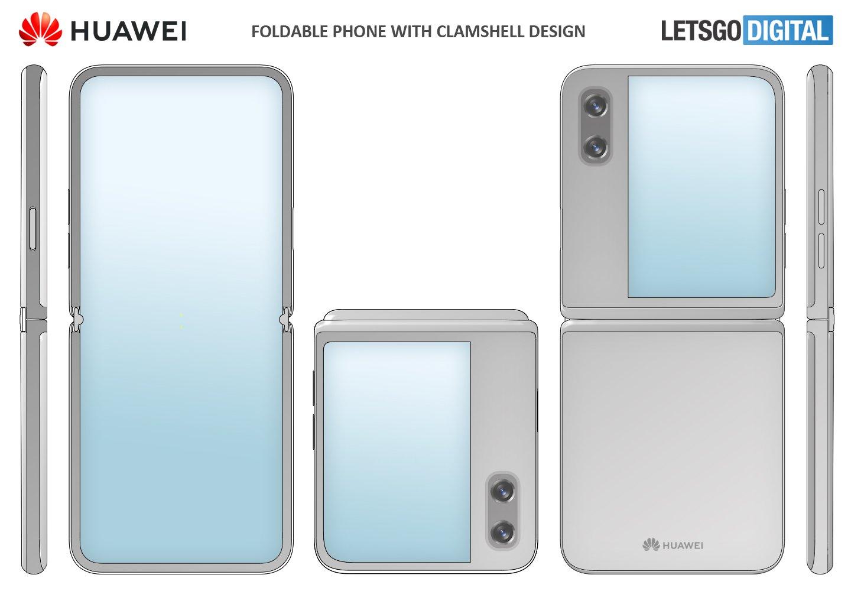 Huawei đăng ký bằng sáng chế thiết kế smartphone gập dạng vỏ sò, có màn hình lớn bên ngoài