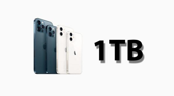 Tin đồn iPhone 13 sẽ có dung lượng 1TB