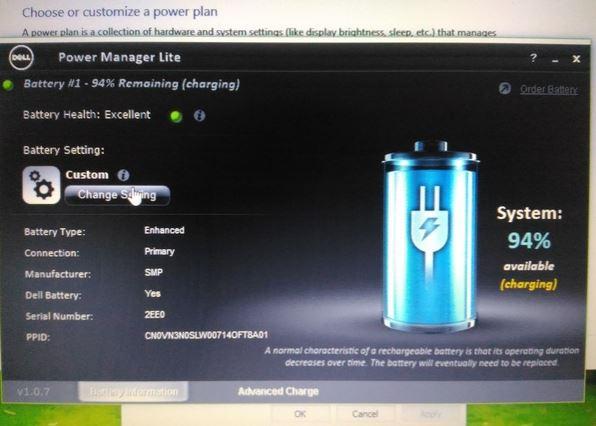 Cách tắt chế độ sử dụng pin của laptop