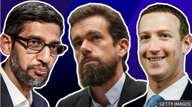 CEO Facebook, Twitter tranh cãi với các nghị sĩ về kiểm duyệt nội dung