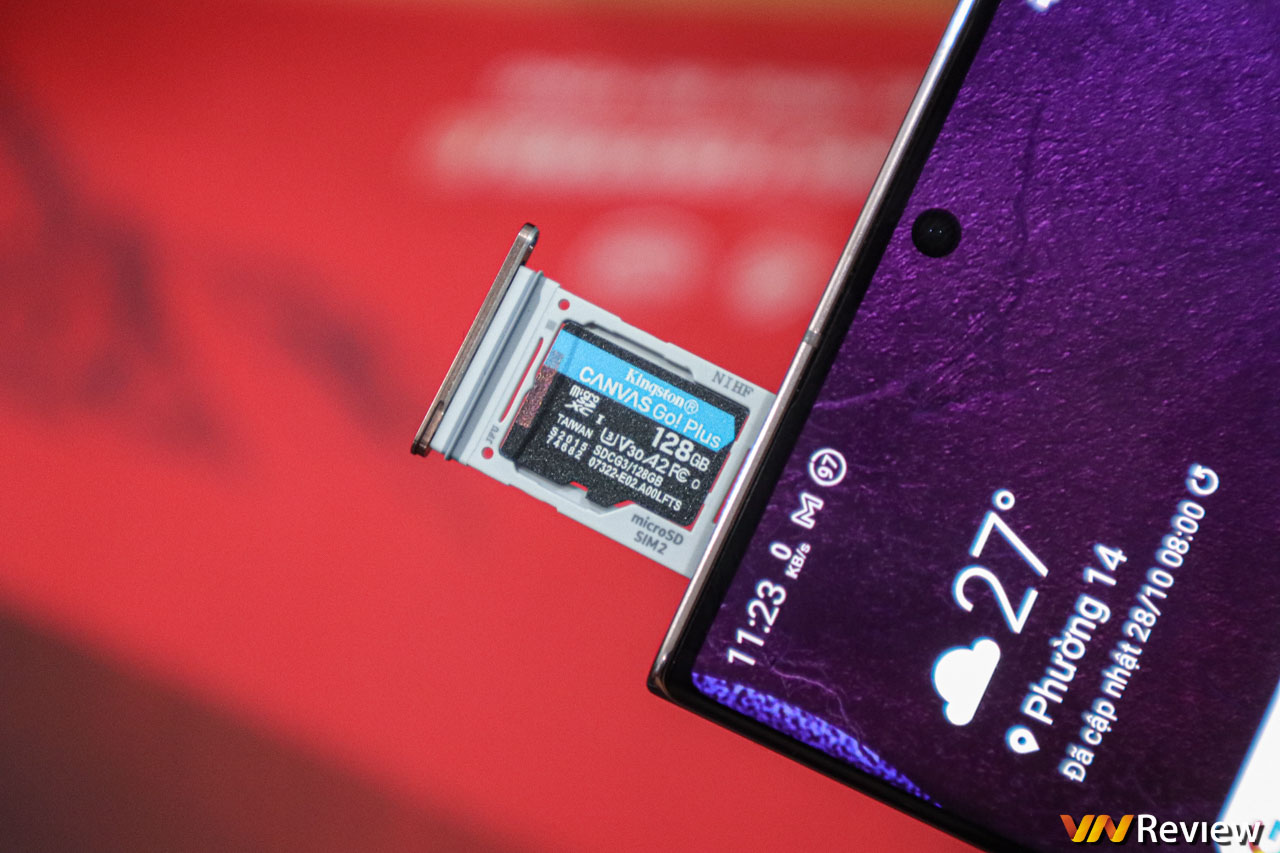 Đánh giá thẻ nhớ Kingston Canvas Go! Plus microSD 128 GB: Bất ngờ với tốc độ ghi file thực tế