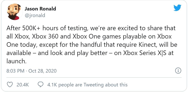 Microsoft công bố chi tiết khả năng tương thích ngược của Xbox Series S/X