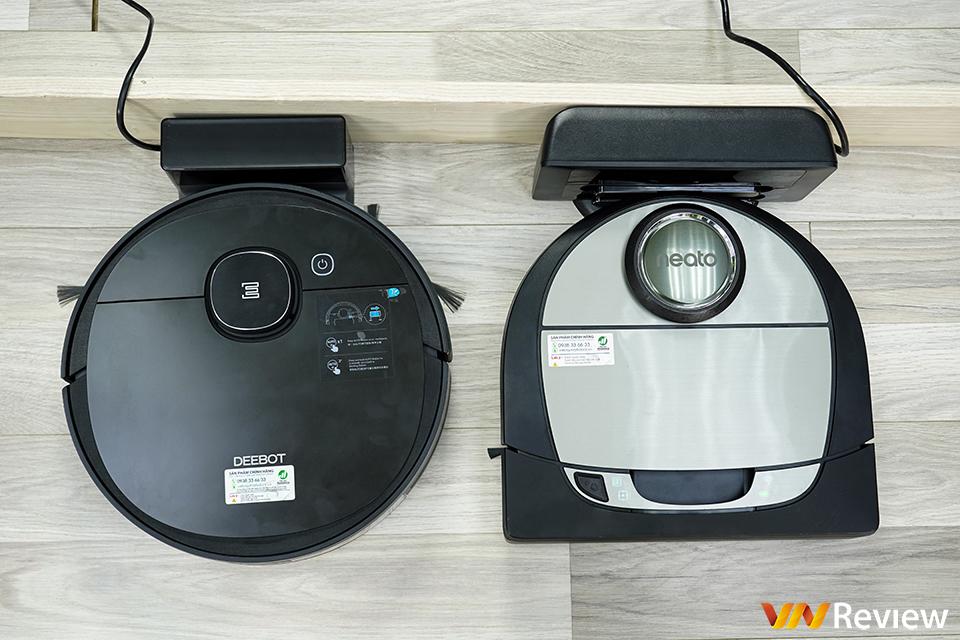 So sánh robot hút bụi của Neato và Ecovacs?
