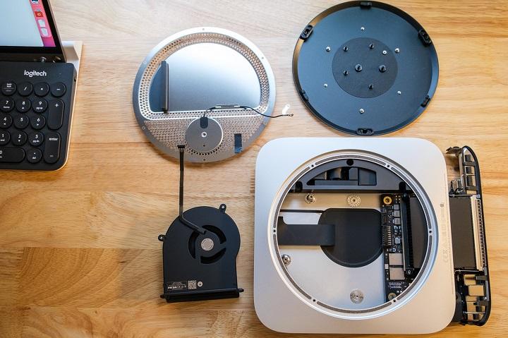 Mổ bụng Mac Mini mới: Cận cảnh con chip Apple M1 trên bo mạch logic nhỏ hơn