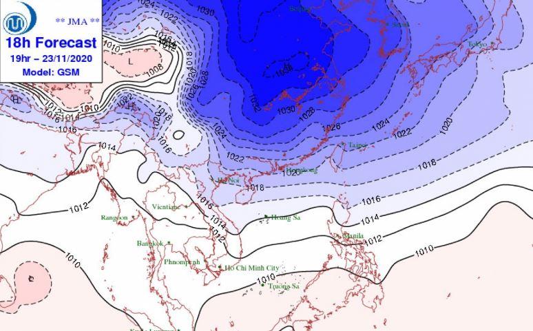 Thời tiết Hà Nội ngày 23/11: Gió mùa Đông Bắc tràn về, chiều nay có mưa lạnh