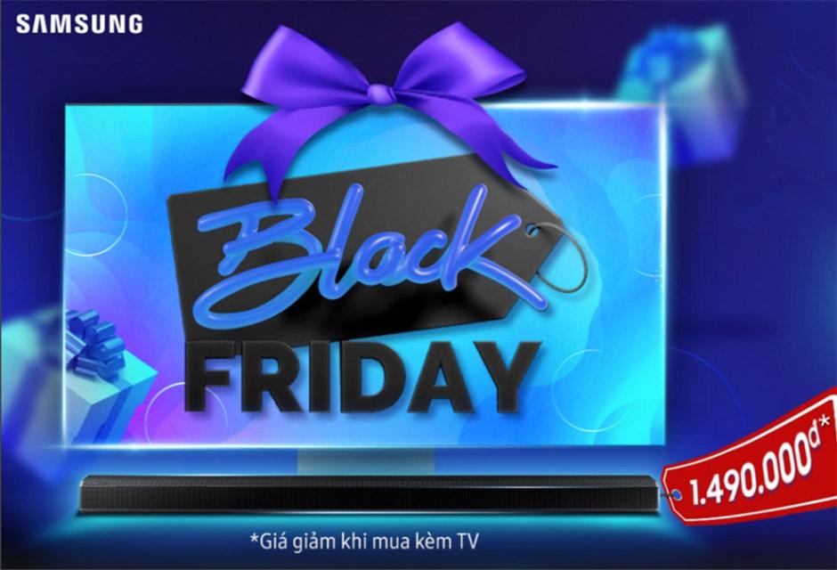 Samsung chơi Black Friday lớn: giảm giá lên đến 50% các dòng TV và loa thanh