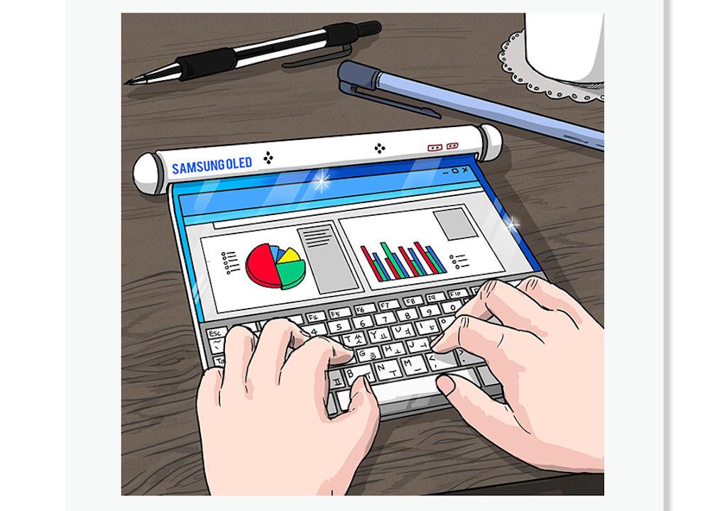 Xuất hiện chiếc điện thoại gập 3 & một chiếc tablet dạng cuộn trong hình ảnh chính thức từ Samsung