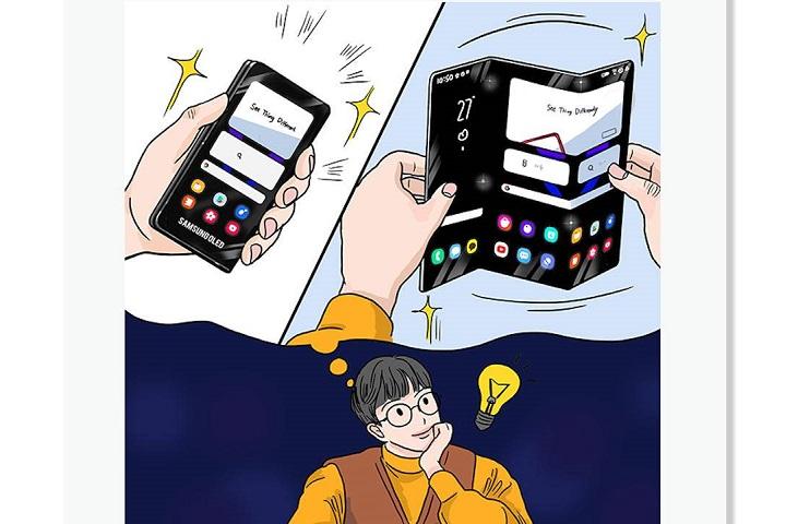 Xuất hiện điện thoại gập 3 và tablet dạng cuộn trong hình ảnh chính thức từ Samsung
