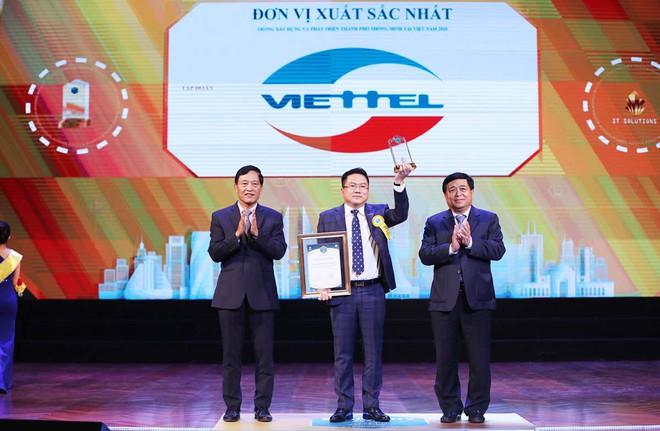 """Viettel giành 5 giải thưởng """"Thành phố thông minh Việt Nam 2020"""""""