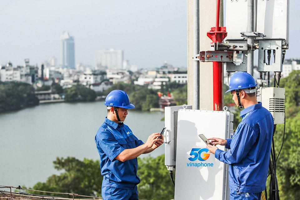 VinaPhone công bố các khu vực dùng được mạng 5G ở Hà Nội và TP.HCM