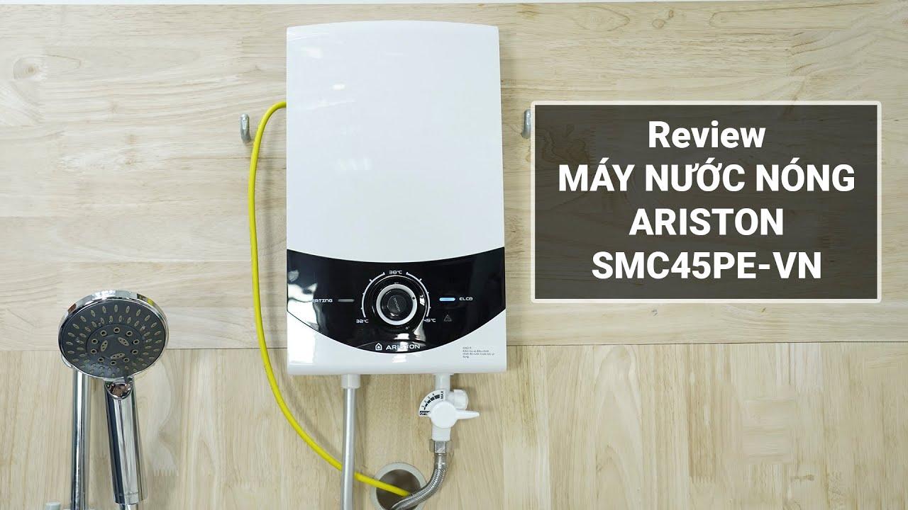 Review máy nước nóng Ariston SMC45PE-VN: Bơm vận hành êm, nhiều công nghệ đáng tiền