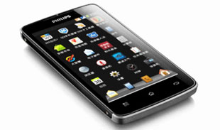 "Smartphone Philips 2 sim, ICS, pin ""khủng"""