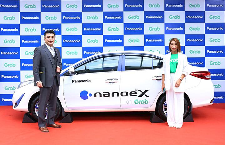 Panasonic cung cấp thiết bị lọc khí cho ô tô chạy Grab tại Việt Nam
