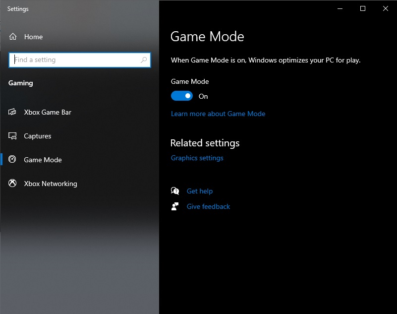 Những chiếc PC Windows 10 đều được bật sẵn chế độ Game Mode