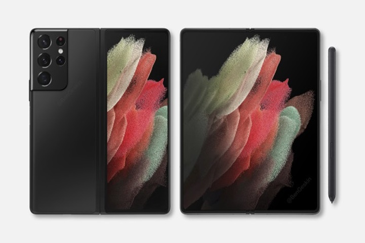 Lộ diện ảnh render chất lượng cao của Galaxy Z Fold 3