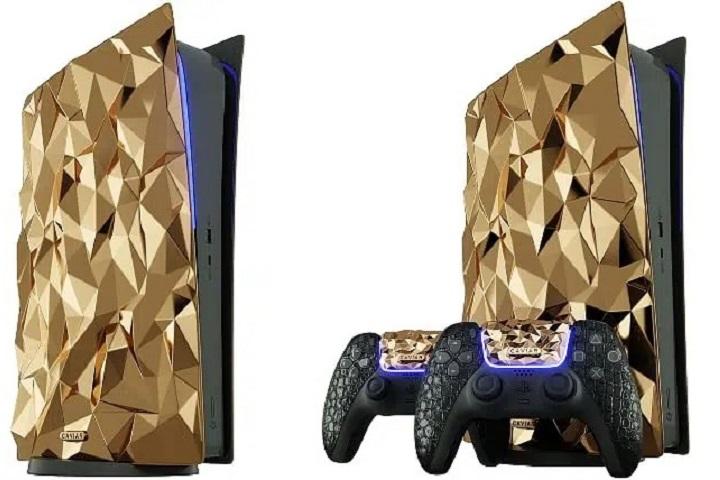 """Caviar """"dát"""" 4,5kg vàng 18 carat lên PlayStation 5, giá hơn 11 tỉ đồng"""