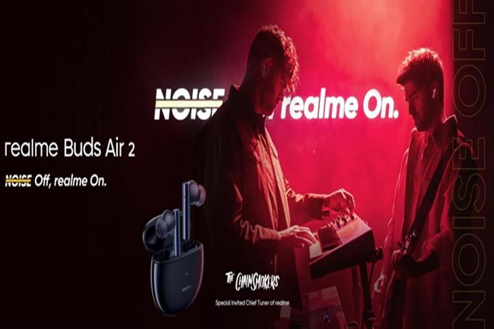 Tai nghe Realme Buds Air 2 TWS có khử tiếng ồn chủ động, tuổi thọ pin tốt hơn