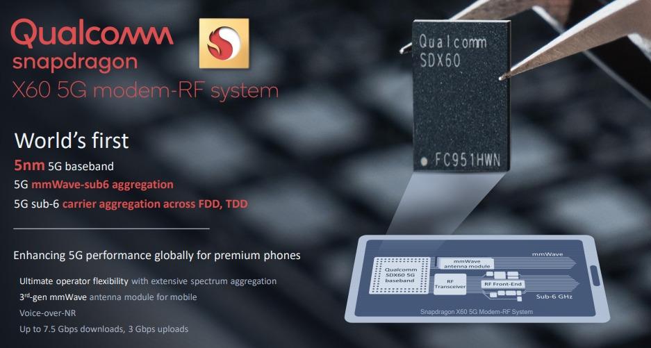 Apple iPhone 13 sẽ sử dụng modem 5G Snapdragon X60 từ Qualcomm