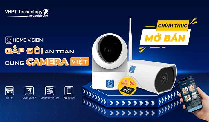 VNPT Technology mở bán camera giám sát trên các chợ điện tử