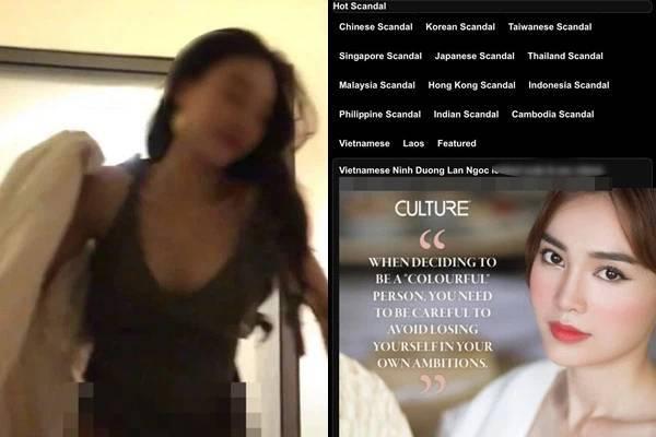 Ninh Dương Lan Ngọc bị nghi lộ clip nóng trên web đen
