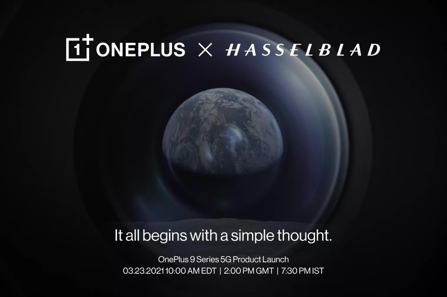 Smartphone đầu tiên có camera Hasselblad mới từ OnePlus, OnePlus 9, sẽ được ra mắt vào ngày 23/03