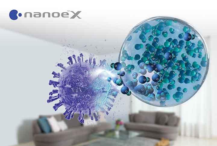 Điều hòa Panasonic tích hợp nanoe X có hiệu quả ức chế virus SARS-CoV-2