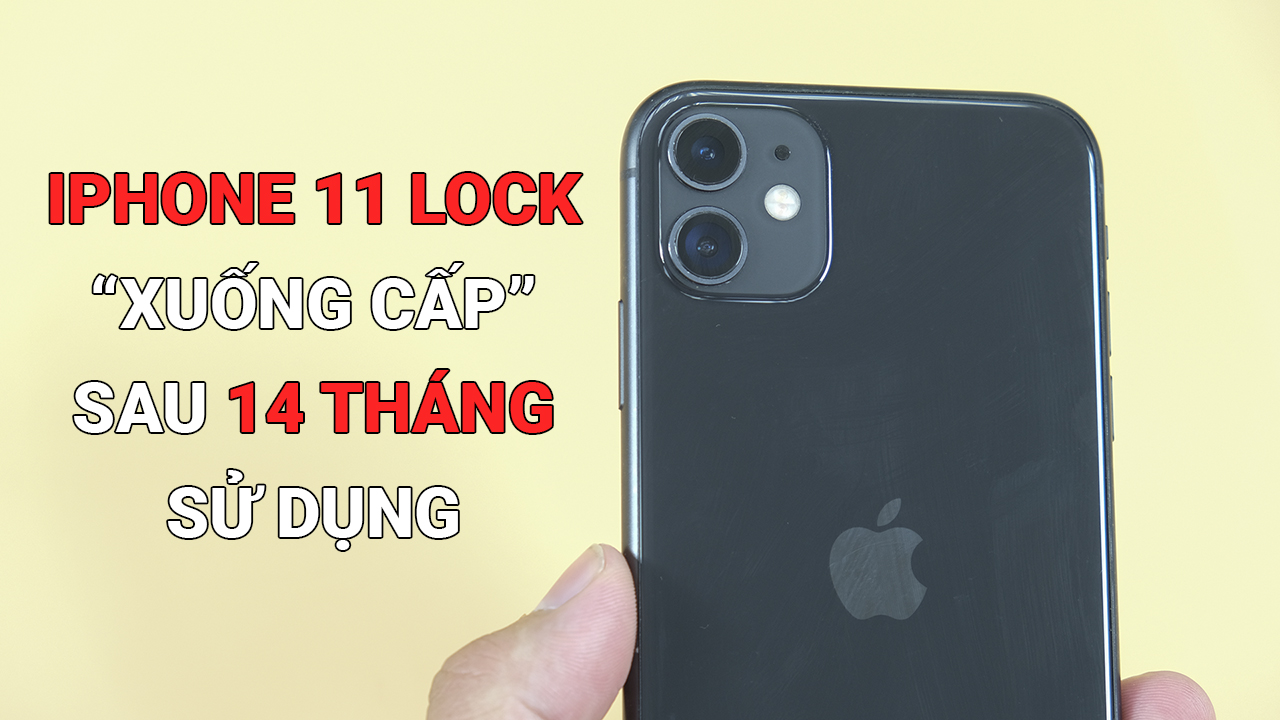 iPhone 11 Lock sẽ xuống cấp như nào sau 14 tháng sử dụng? Kinh nghiệm khi test iPhone cũ