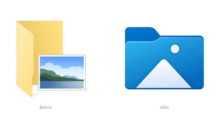 Windows 10 có bộ biểu tượng File Explorer mới