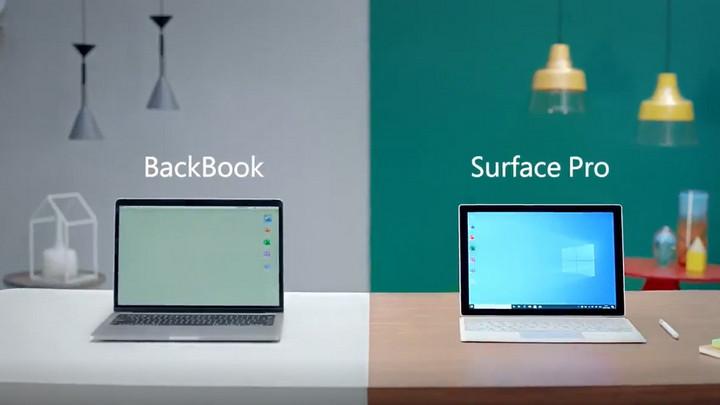 """Microsoft chọc quê Apple trong quảng cáo mới khi gọi MacBook là """"BackBook"""""""