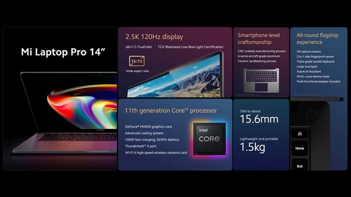 """Xiaomi công bố máy tính xách tay 15"""" với màn hình OLED E4, mẫu 14"""" với màn hình LCD 120 Hz"""