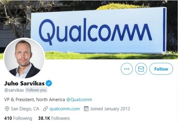 Cựu giám đốc điều hành Nokia và HMD Juho Sarvikas gia nhập Qualcomm