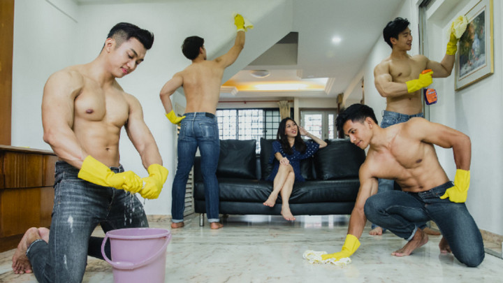 Xuất hiện dịch vụ trai đẹp 6 múi dọn nhà tại Singapore