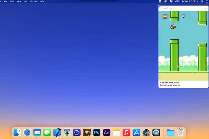 Flappy Bird được hồi sinh dưới dạng một thông báo tương tác trên macOS
