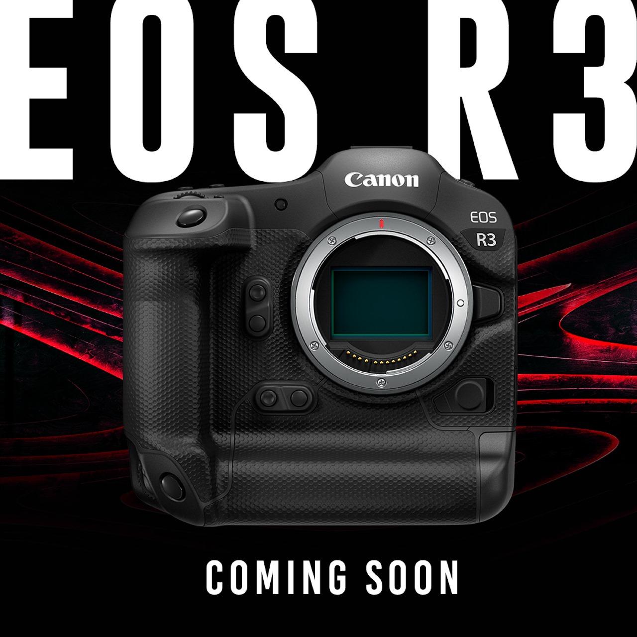 Canon tuyên bố EOS R3 dự kiến ra mắt vào cuối năm nay, kiểu dáng