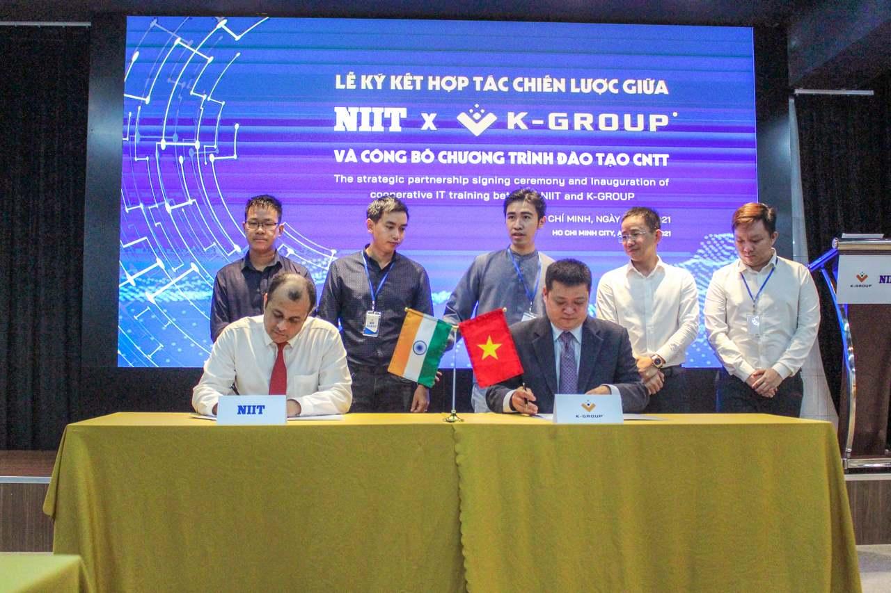 K-Group hợp tác NIIT, đào tạo nhân lực công nghệ chất lượng cao tại Việt Nam