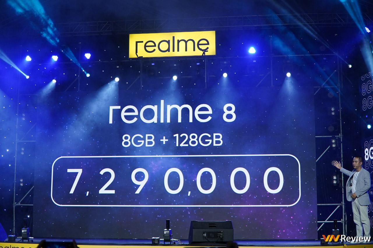 realme 8 và 8 Pro có giá chính thức tại Việt Nam, khởi điểm từ 7,29 triệu đồng, lên kệ vào 8/5