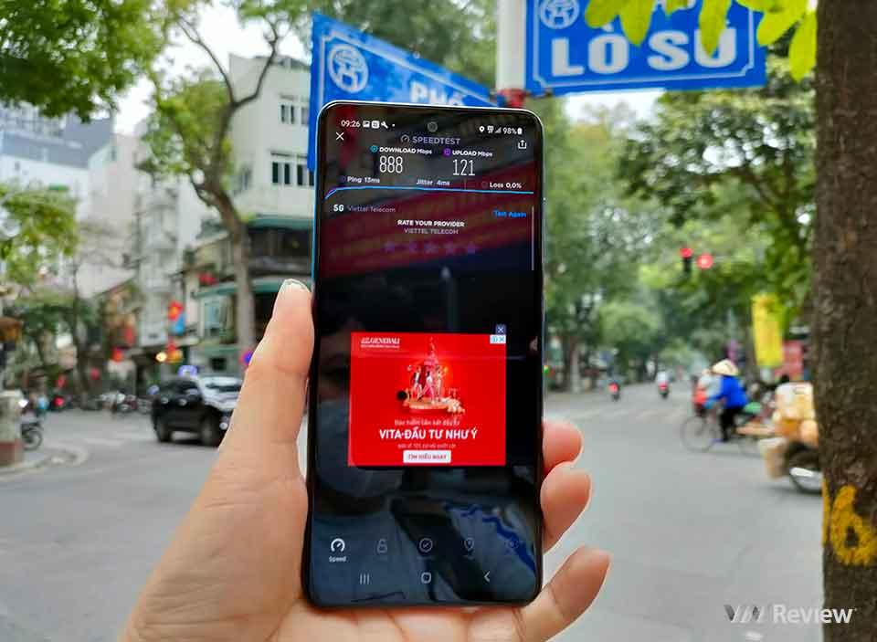 Dùng thử mạng 5G ở Hà Nội trên Samsung Galaxy A52 5G
