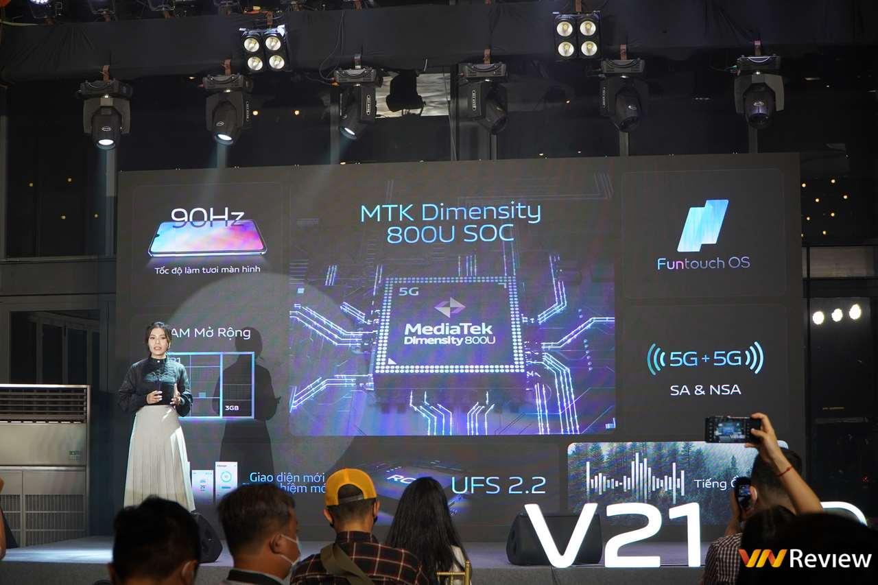vivo V21 5G ra mắt tại Việt Nam: điện thoại đầu tiên có camera selfie 44MP chống rung OIS, đèn Flash kép, giá 9,9 triệu đồng